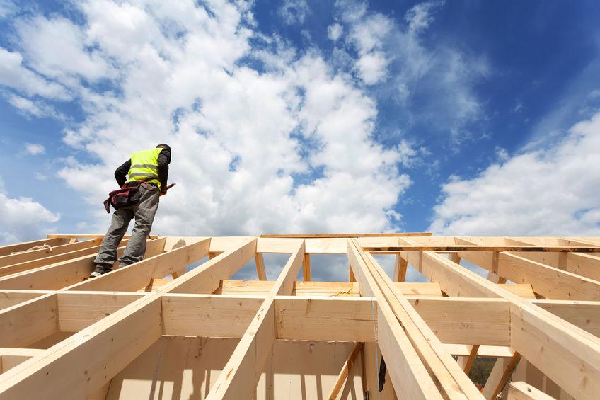 Roof Skeleton or Structural Support Against Blue Sky