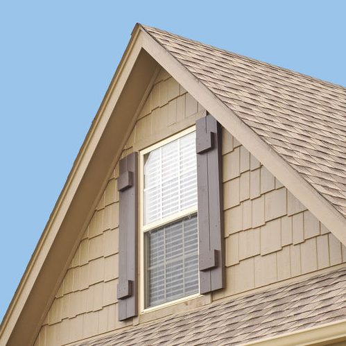 Close Up of Roof Gable of Residential Home
